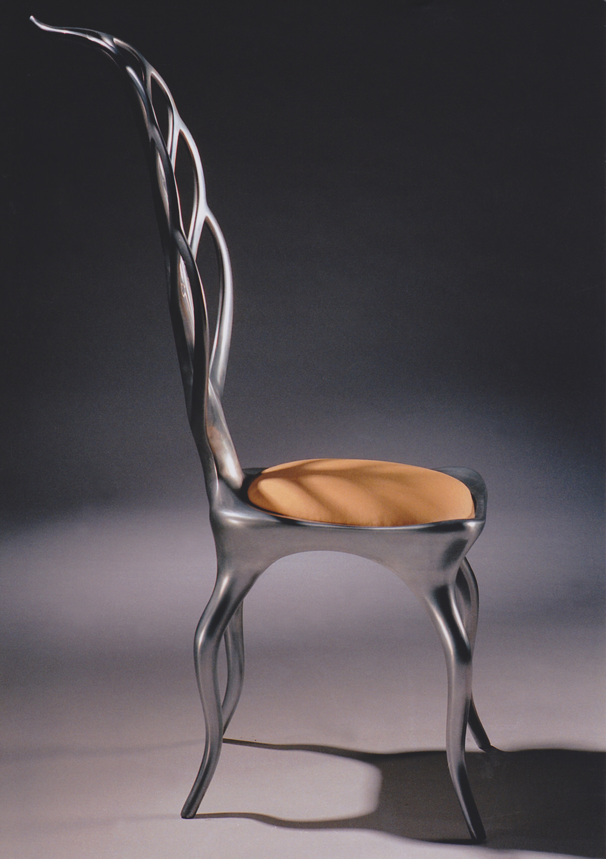 Leaf Chair aluminium sculptural designer furniture unique fruniture MOMA tree chairs design museum chaires bespoke chairs occasional chairs Mark Reed