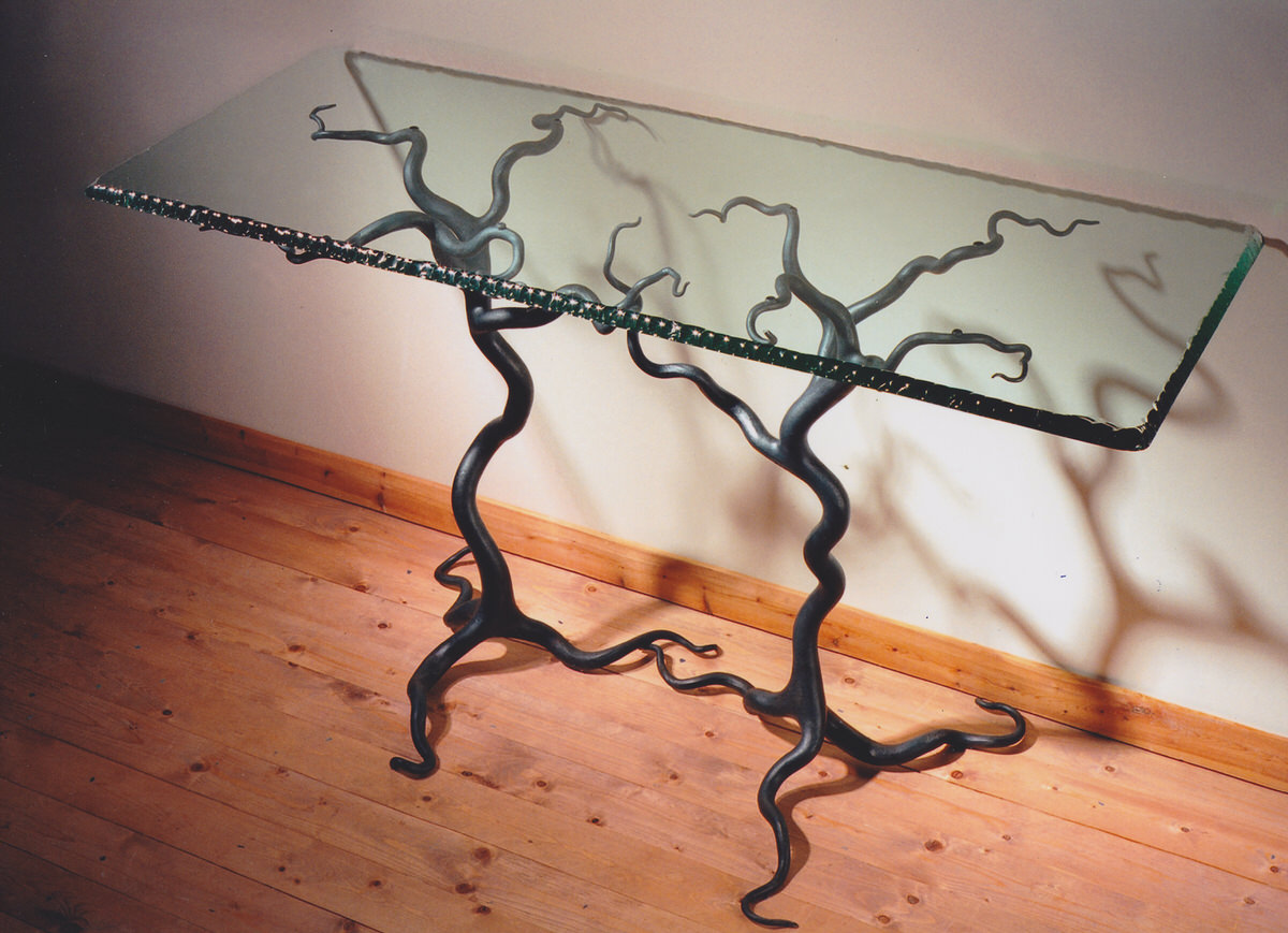 Savernake forest table sculptural furniture tree table unique furniture designer furniture by Mark Reed