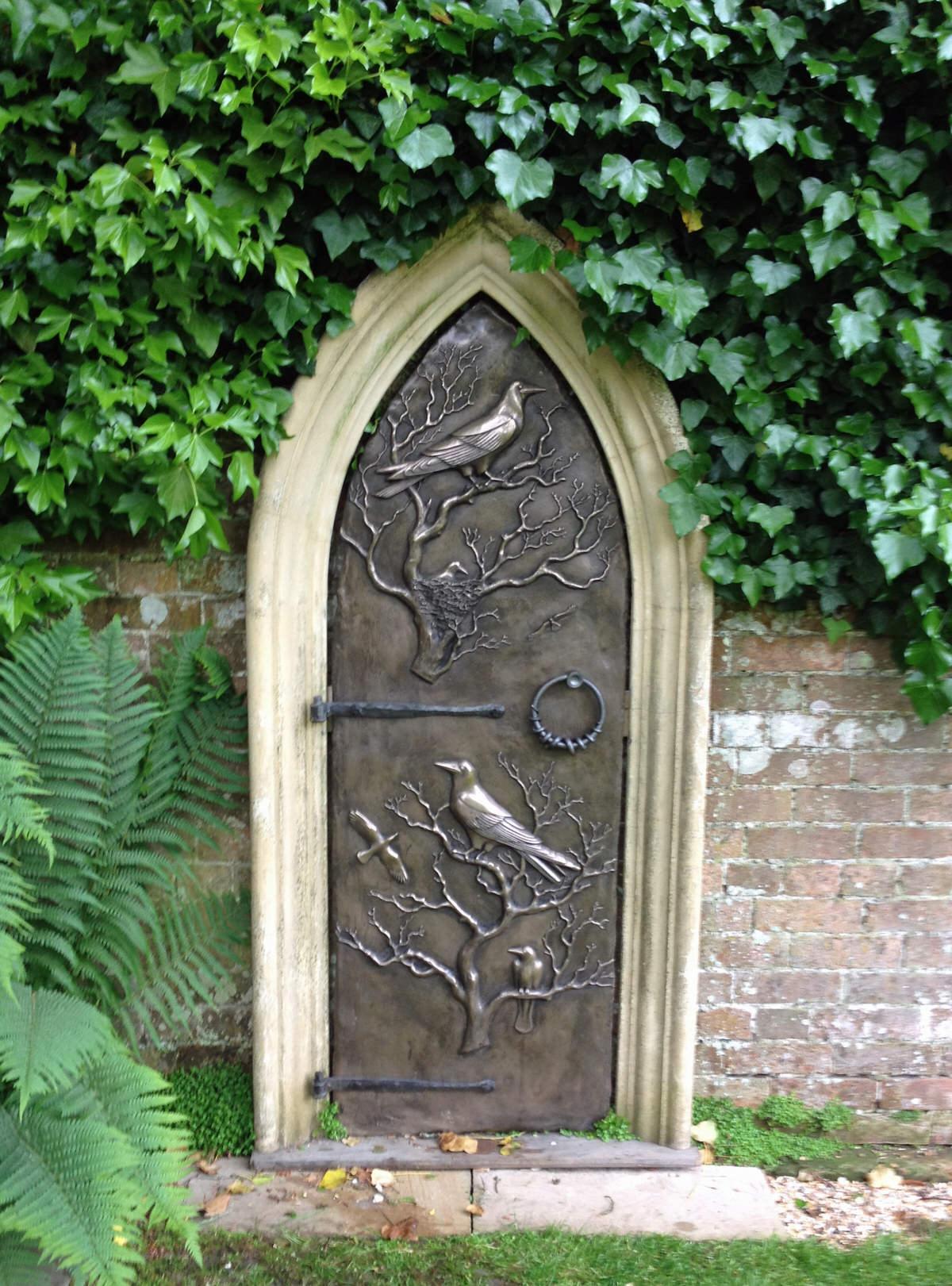 Secret Garden Door sculpture cold cast bronze and reconsituted stone enchanted garden by Mark Reed & Secret Garden Door - Mark Reed Sculpture