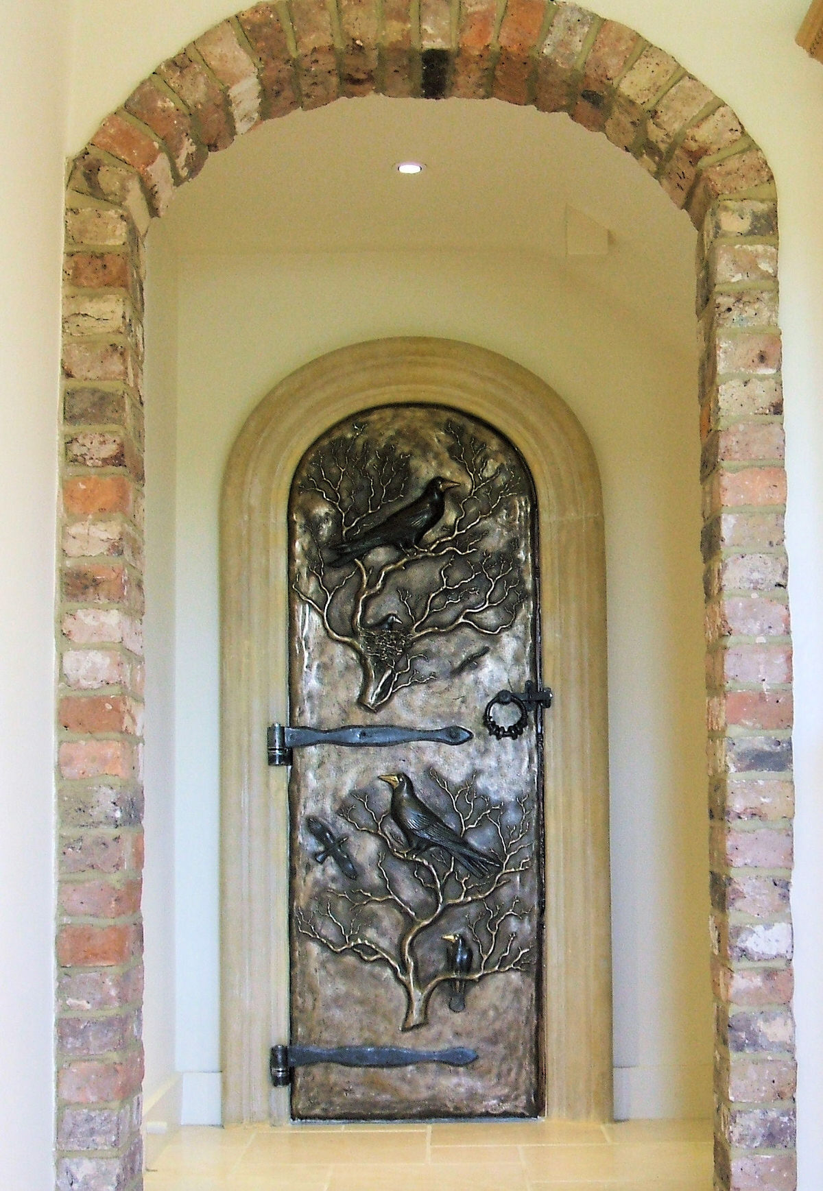 Secret Garden Door solid bronze door Henry Wislon Bronze Door sloane sqaure st patricks catherdal new york bronze door amalfi italy by Mark Reed