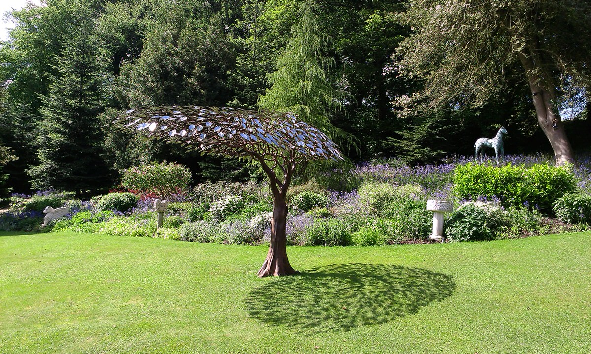 Arbour Metallum windswept tree sculpture steel and stainless steel sculpture bespoke sculpture for architects by Mark Reed (2)