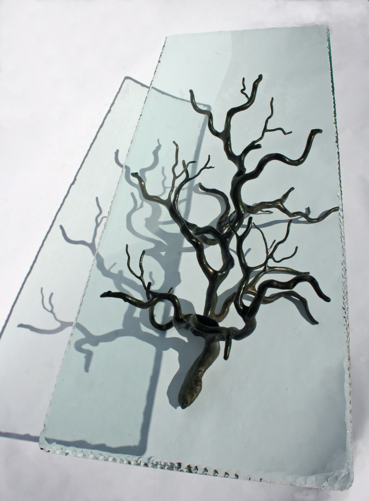 Branch Coffee Table Bronze (Rectangular) unique sculptural artistic table by Mark Reed