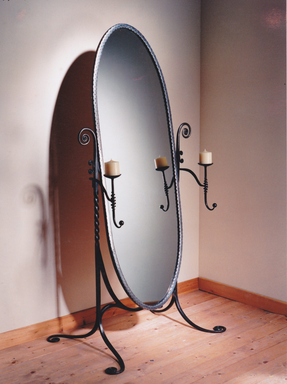 Cheval Mirror bespoke stunning designer mirror for interior designed bedroom furniture Decores USA New York by Mark Reed