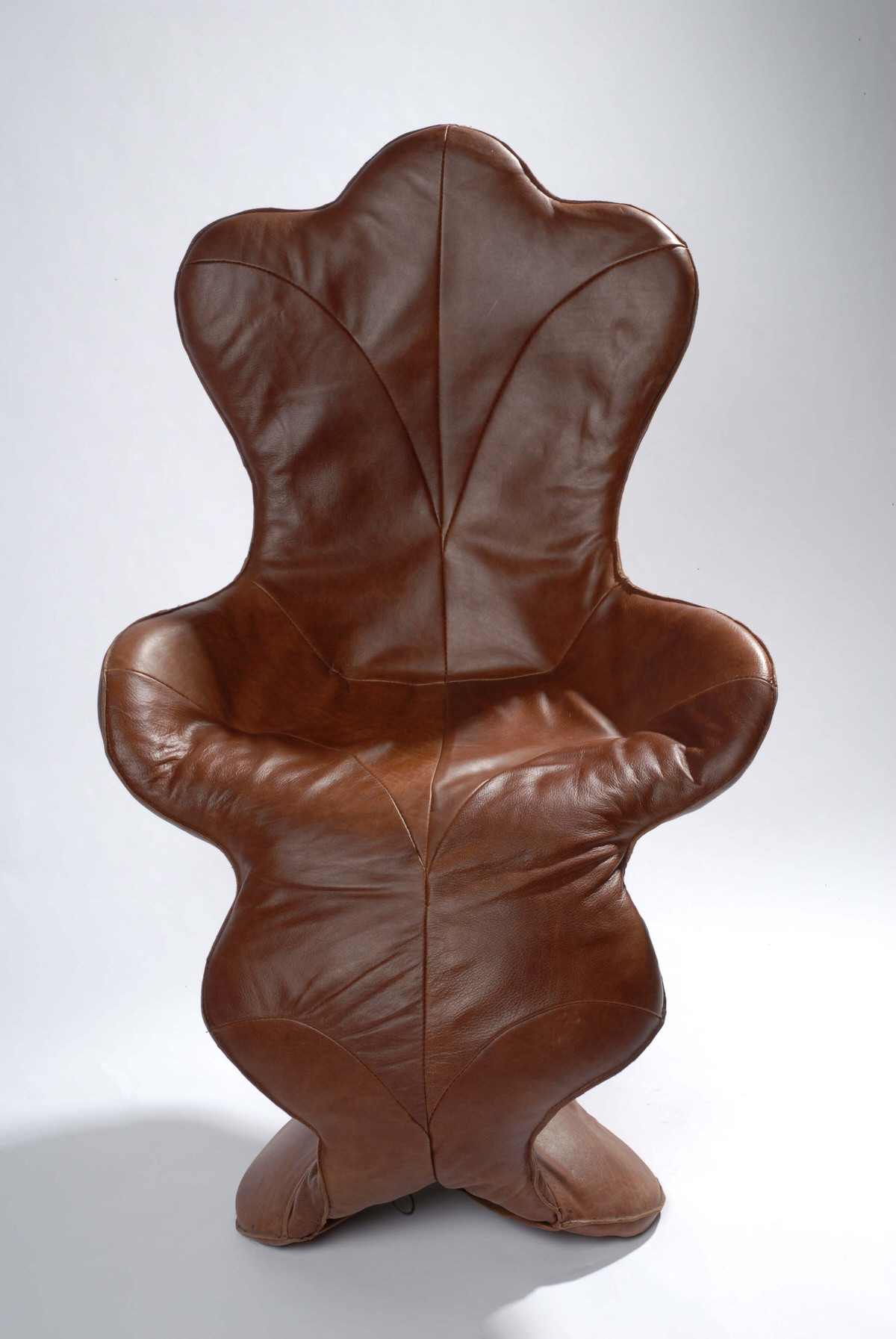 Oak Leaf designer leather occasional chair interior designers and specifiers Maison de Object by Mark Reed