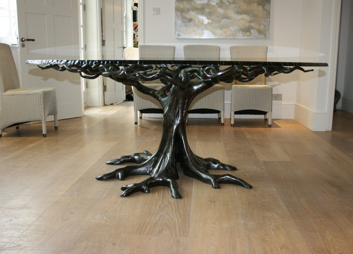Penshurst bespoke circular tree table sculptural furniture by Mark Reed
