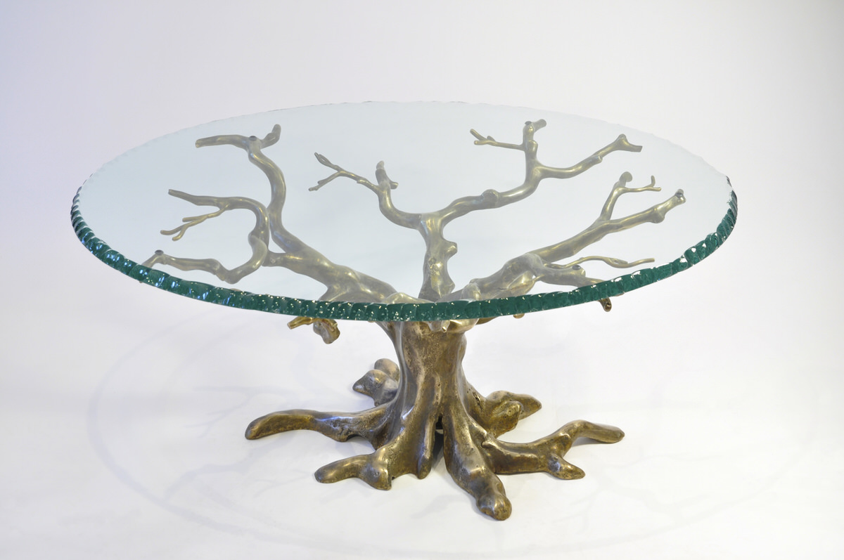 Penshurst bespoke coffee table bronze unique sculptural furniture for interior designers byMark Reed