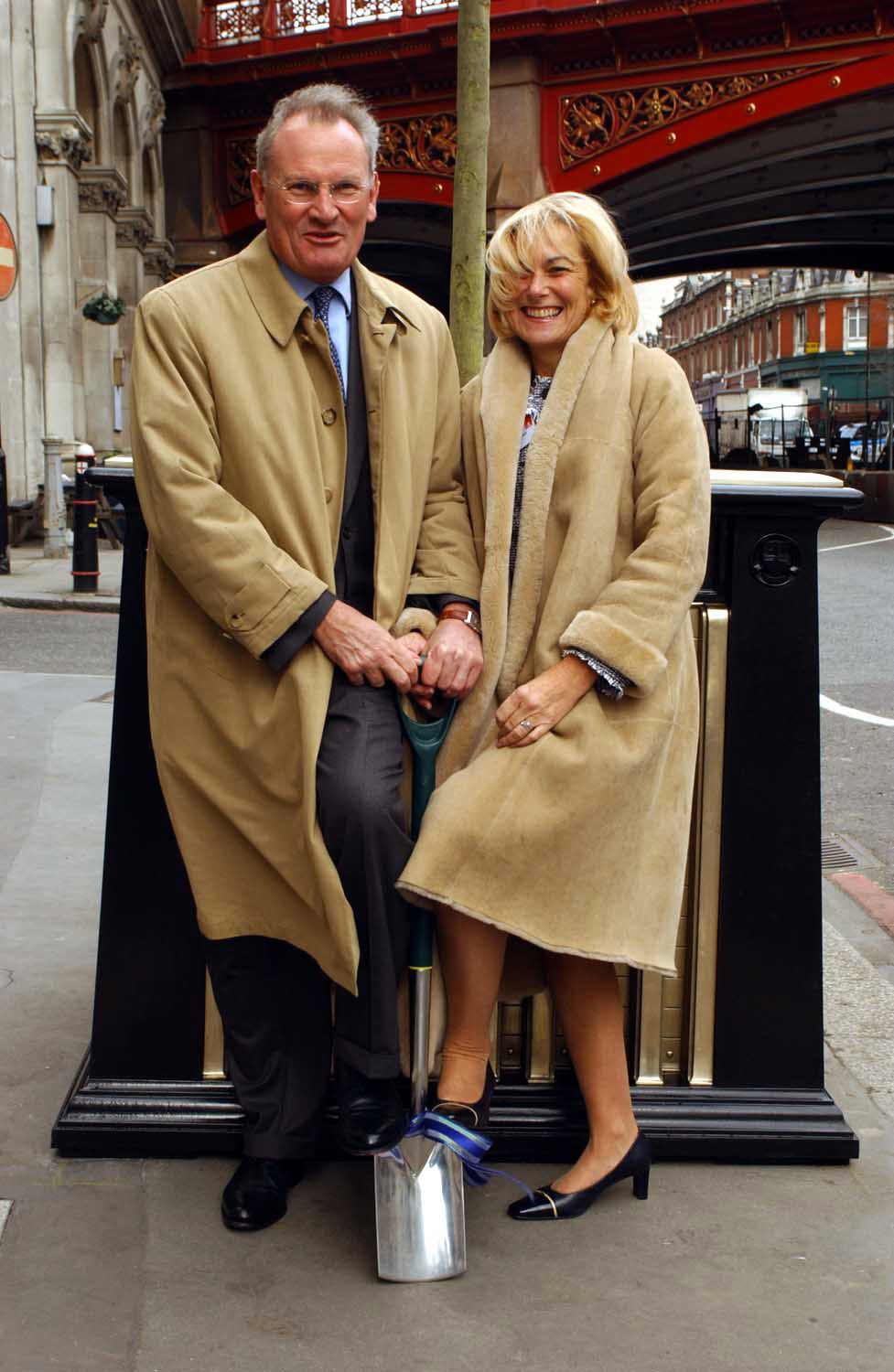 Sir William and Mrs Castell chirman of the Prince's TrustMark Reed tree planters City of London