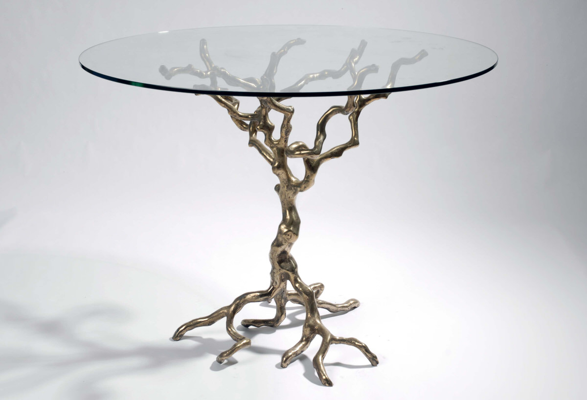 Tree Occassional Table bronze artistic designer sculptural furniture Design and decor by Mark Reed