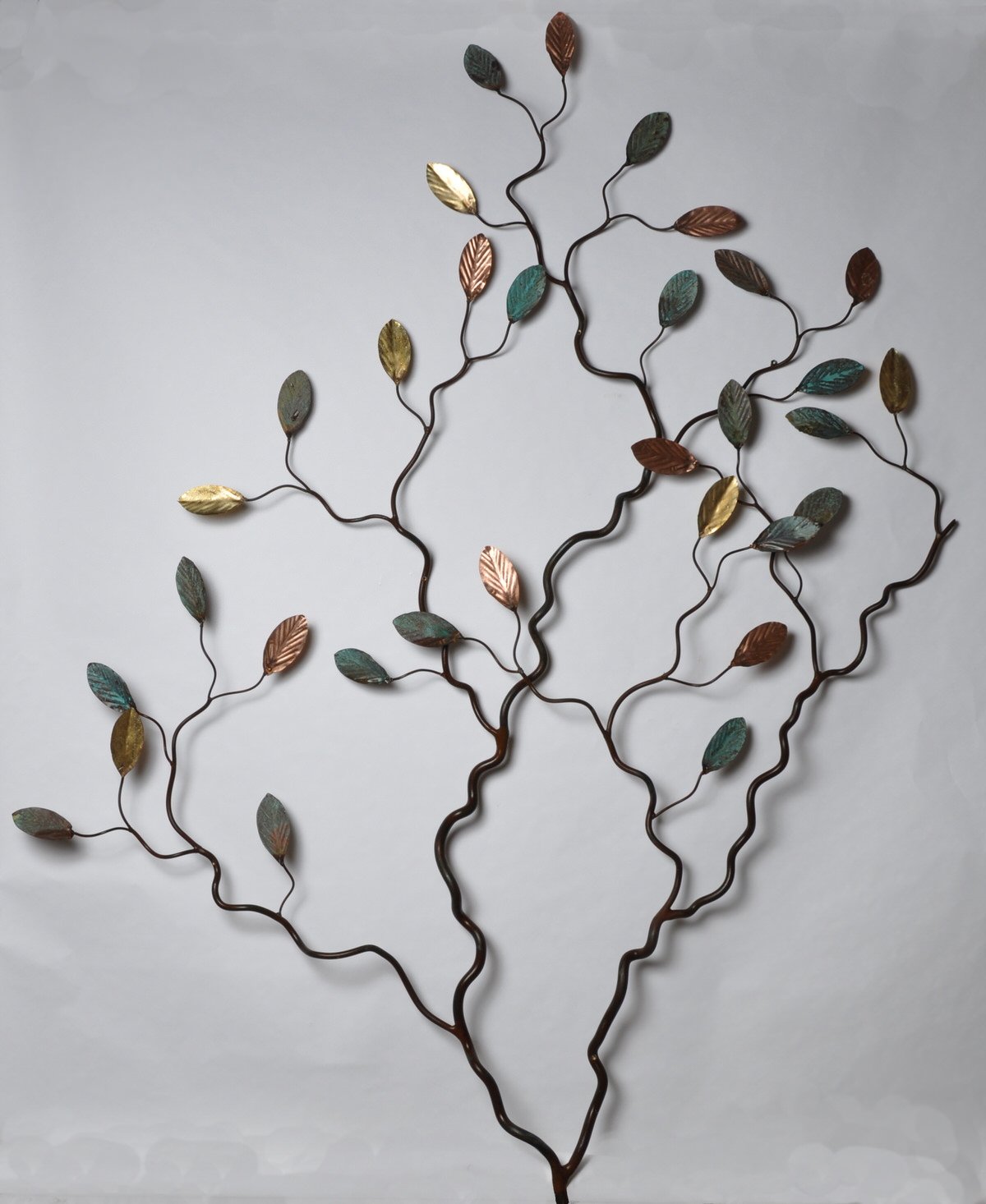 espalier tree wall sculpture  metal tree sculpture copper tree sculpture architect sculpture memorial tree sculpture hospital tree sculpture by Mark Reed