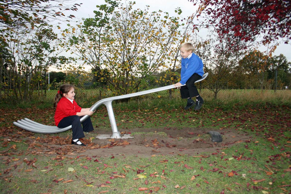 fork seesaw bespoke commission for play park aluminum garden ...