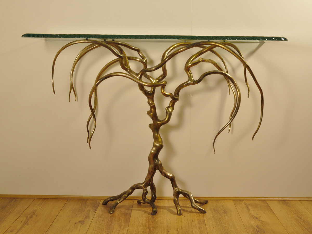 Weeping Willow Console Table - Mark Reed Sculpture
