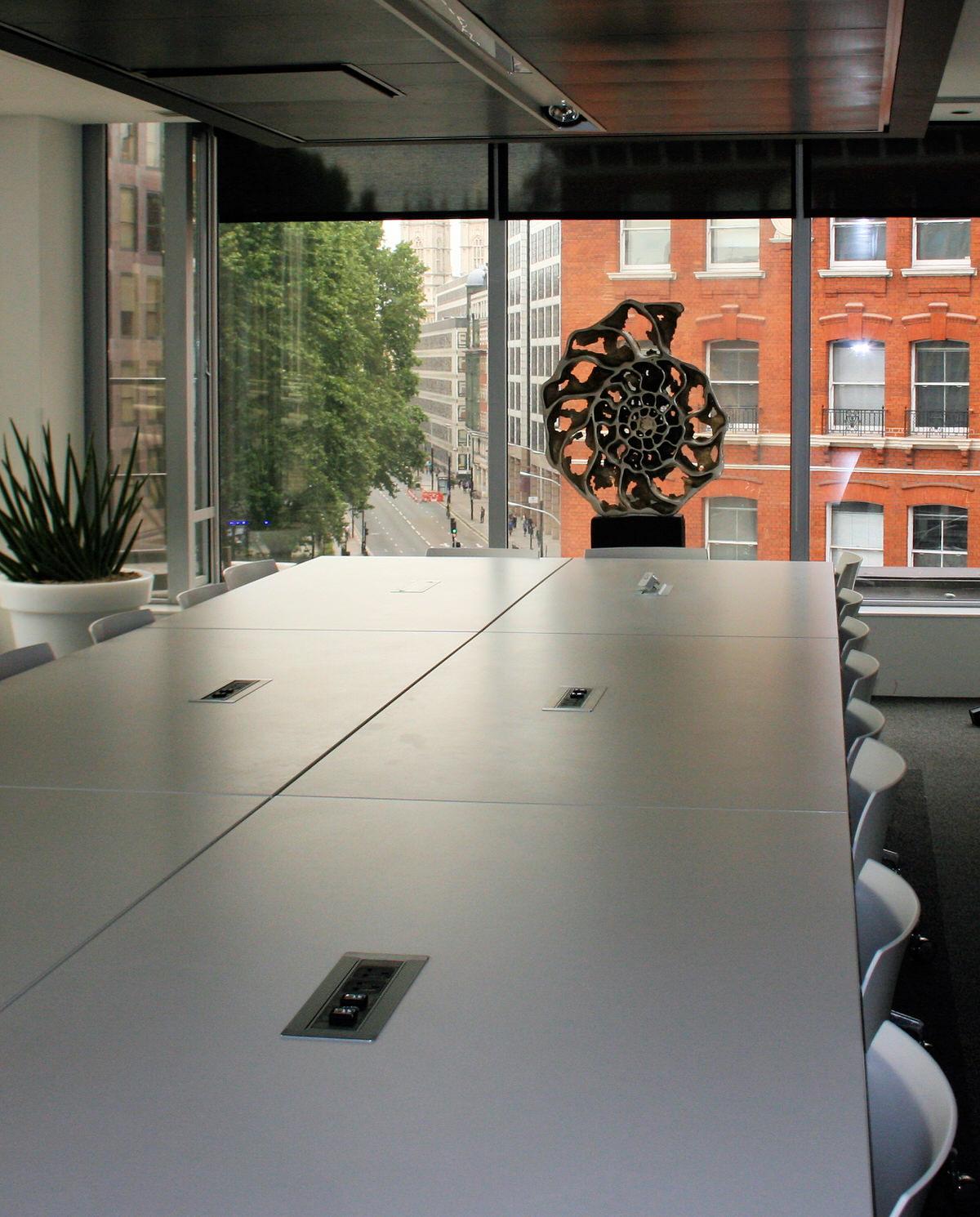 Ammonite slice inside sculpture bronze sculpture specifier sculpture corporate sculpture for contemporary offices