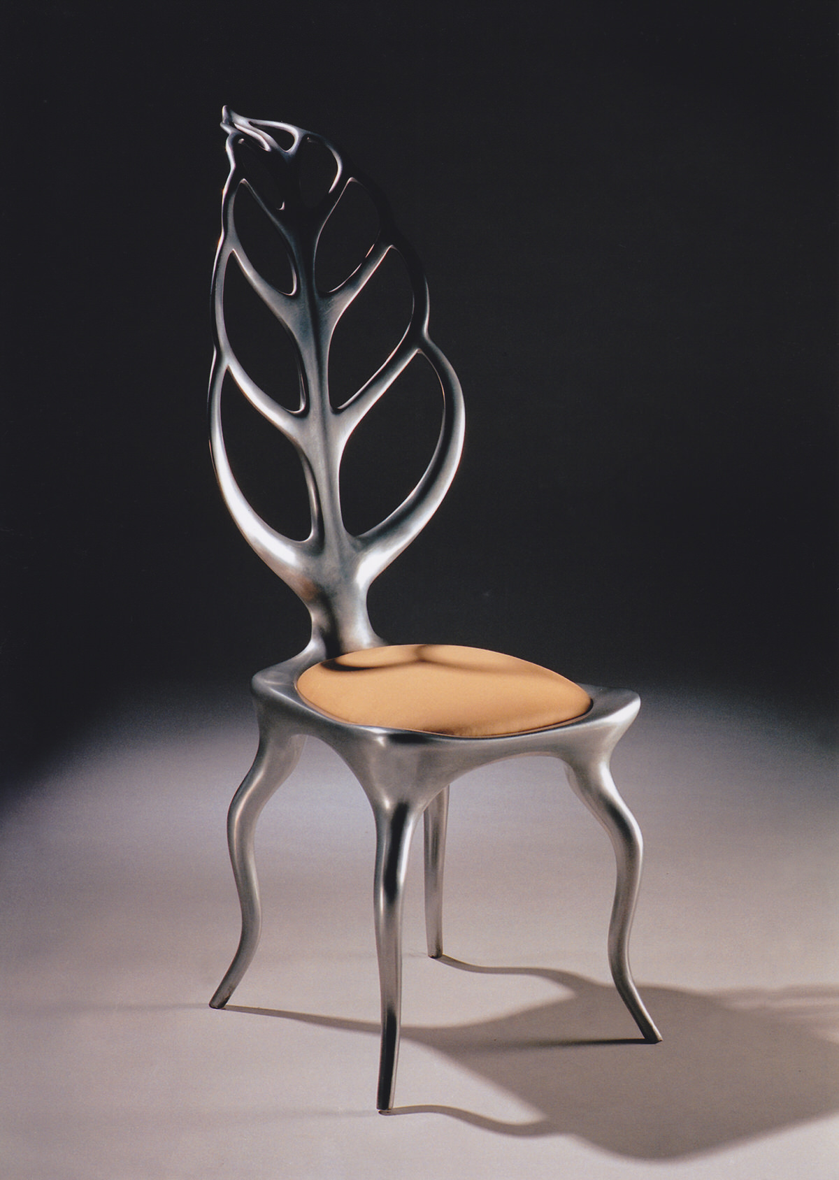 Leaf Chair- aluminium, sculptural furniture Tate Collections by Mark Reed