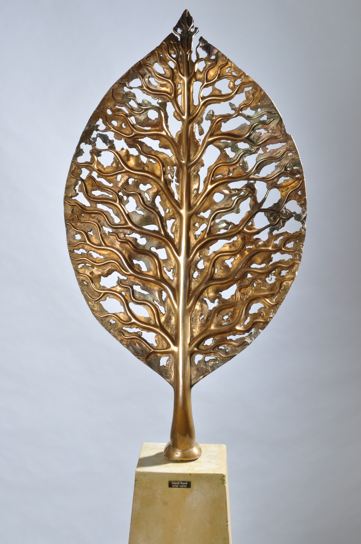 Life Leaf -bronze, Limited edition Garden Sculpture Corporate commission for PriceWaterHouseCoopers sculpture for specifiers RHS Chelsea Flower Show centrepiece for weddings by Mark Reed sculptor