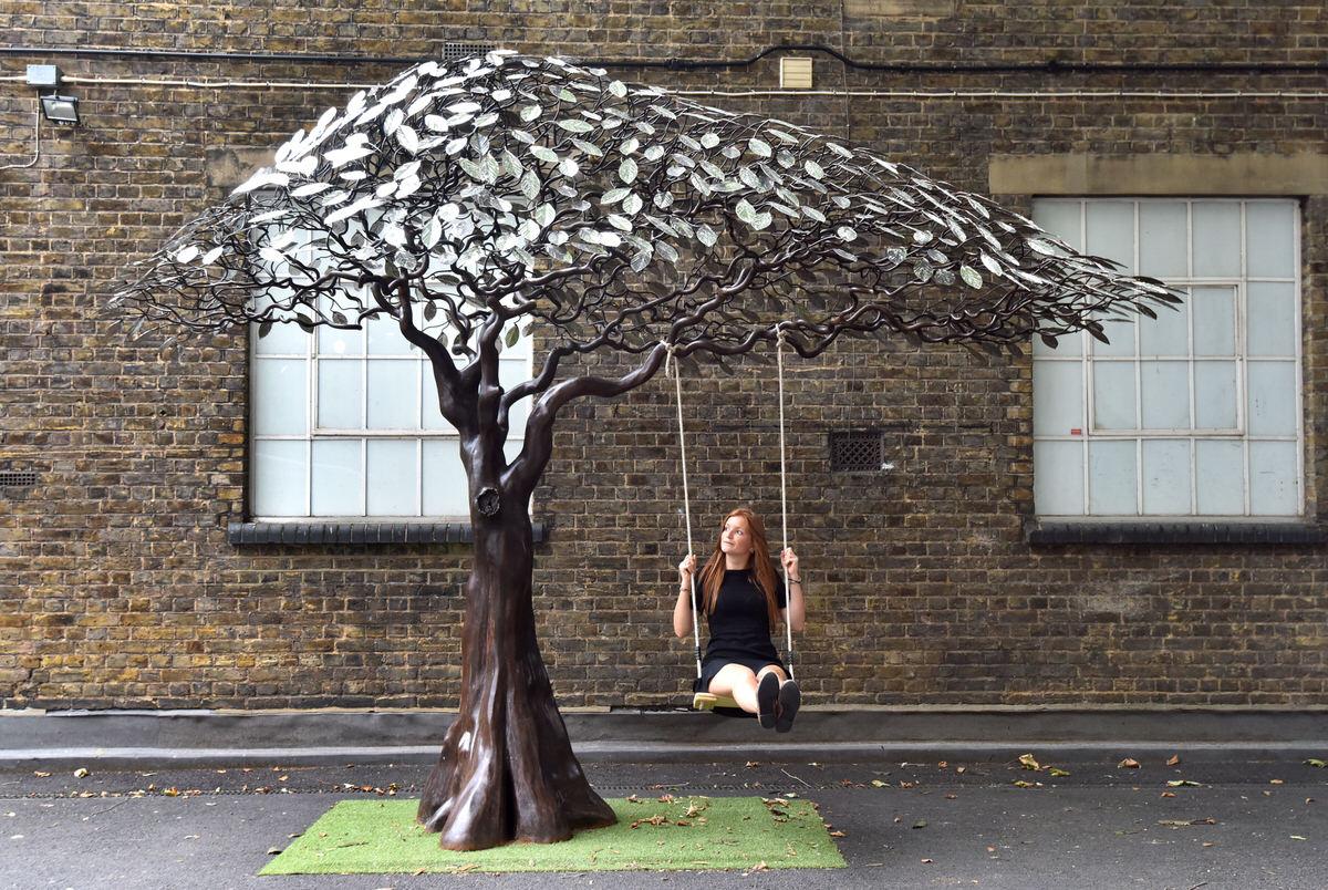 arbour metallum tree sculpture mark reed sculpture