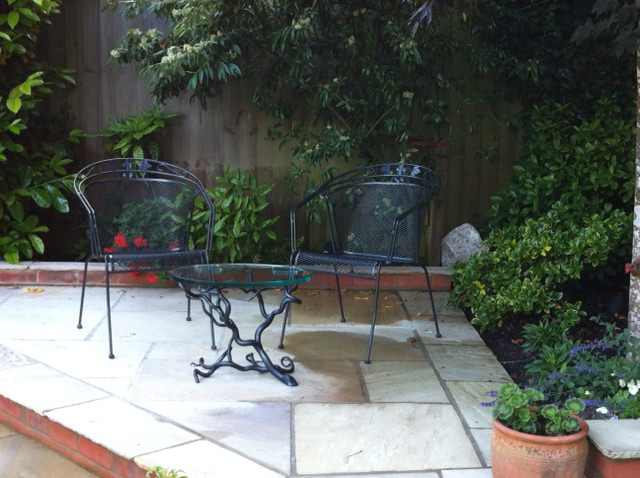 Branch Coffee Table (oval) bespoke garden table furniture for garden specifiers by Mark Reed
