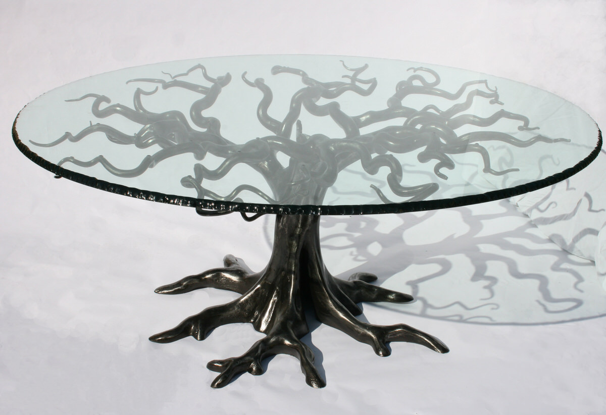 Penshurst Dining Table sculptural bespoke table by British Sculptor Mark Reed