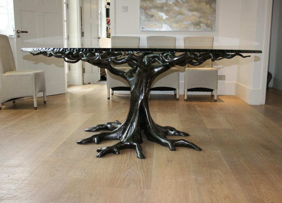 Penshurst bespoke circular tree table sculptural furniture by Mark Reed