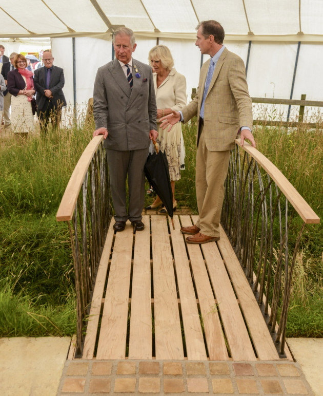 Prince's Trust Bridge with Prince Charles and Camilla Show Garden RHS Chelsea by Mark Reed
