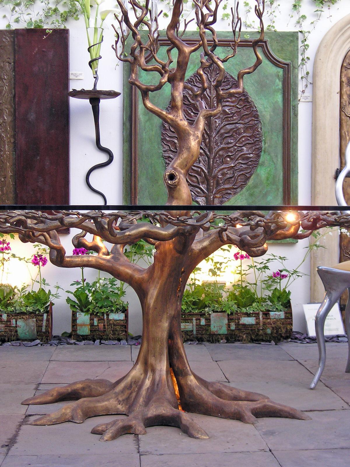 Sidney S Oak Table Mark Reed Sculpture