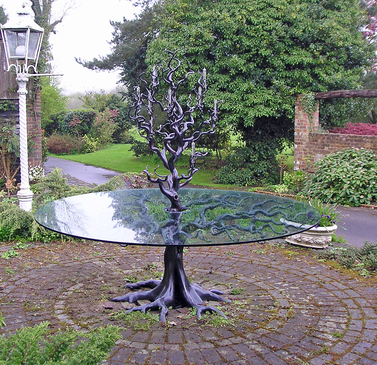 Sidney S Oak Table Mark Reed Sculpture